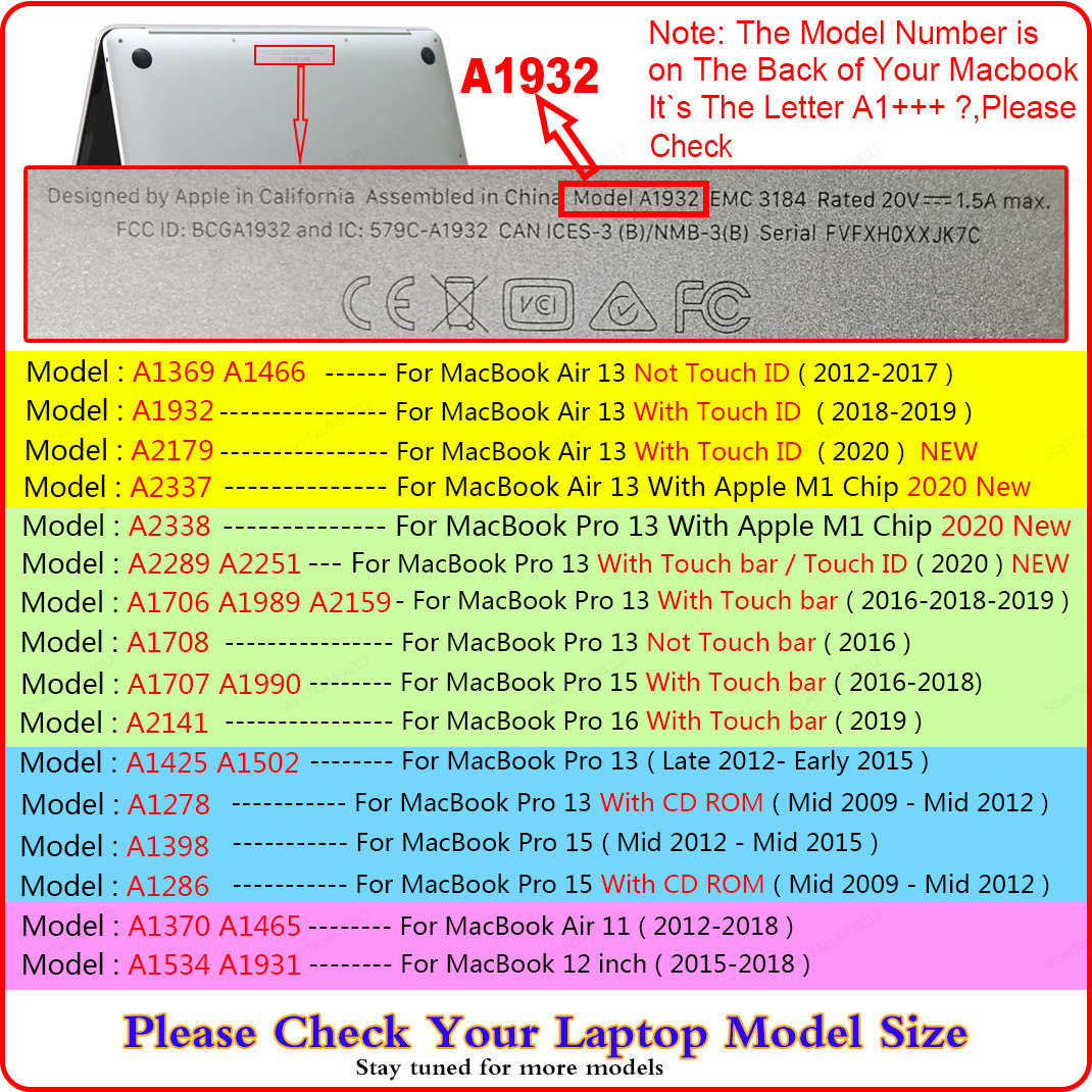 Laptop Case For MacBook Pro 13 Case 2020 M1 A2338 Touch ID Coque For Macbook Air 13 A2337 Funda Pro 16 Case 11 12 15 accessories 6