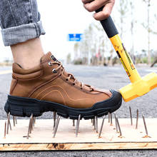 Man Safety Shoes Winter Safety Man Work Boots Waterproof Work SHOES Slippers Dur