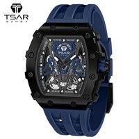 Reloj Automático de acero inoxidable para hombre, pulsera mecánica de lujo resistente al agua con diseño de Tonneau