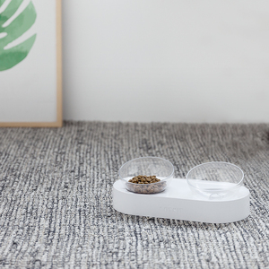 Image 5 - Xiaomi PETKIT Pet Bowl Feeding Dishes Adjustable Double Feeder Bowls Water Cup Cat Bowls Drinking Bowl Plastic / Stainless Steel