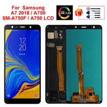 Super AMOLED For Samsung Galaxy A7 2018 Display SM-A750F A750F A750 LCD Display Touch Screen Digitizer Replacement Part A750 LCD