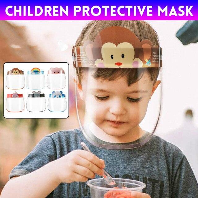 10PCS Kids Full Face Shield Mask Protective Visor Face Mask Plastic Anti Splash Anti saliva Dust-proof Full Face Cover