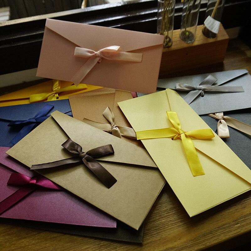 10pcs/lot Gift Envelope Letter Set Envelopes for Invitations Stationery Cards  Envelope De Casamento Kraft Envelope Red Envelope 2