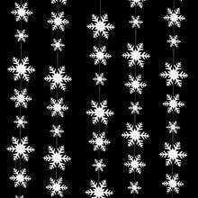 Banner Birthday-Party Garland Snowflake-Paper Wall-Hanging Wedding Home-Decor Natal Winter