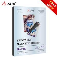 Matte Magnetic inkjet sticker photo paper A3 for inkjet printer