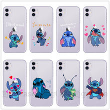 Funny Cute Stich Stitch Phone Case For iPhone X XR XS MAX 5S SE 7 8 6 6s Plus 11 Pro Max Soft Silicone TPU Cover Coque Fundas(China)