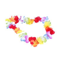 100pcs Hawaii Christmas Wreath Door Decoration Hawaiian Party Artificial Flower Garland Necklace Wedding Decorations