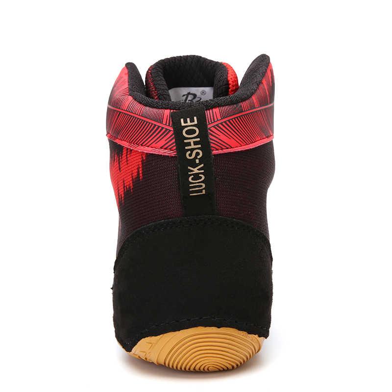 الرجال أحذية مصارعة أحذية مصارعة عالية المطاط تسولي تنفس برو المصارعة والعتاد للرجال والنساء