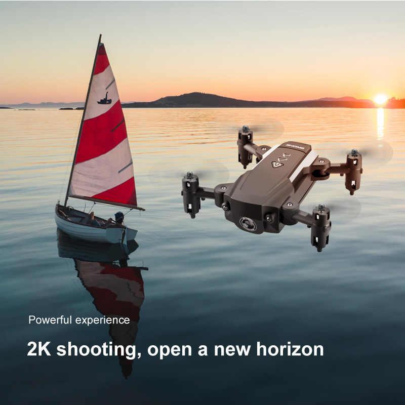 KK8 1080P เฮลิคอปเตอร์ 2.4GHz 4CH 6 แกน Gimbal วิดีโอ Full HD กล้อง RC Drone FPV MINI Quadcopter แบบพับได้ one Key RETURN