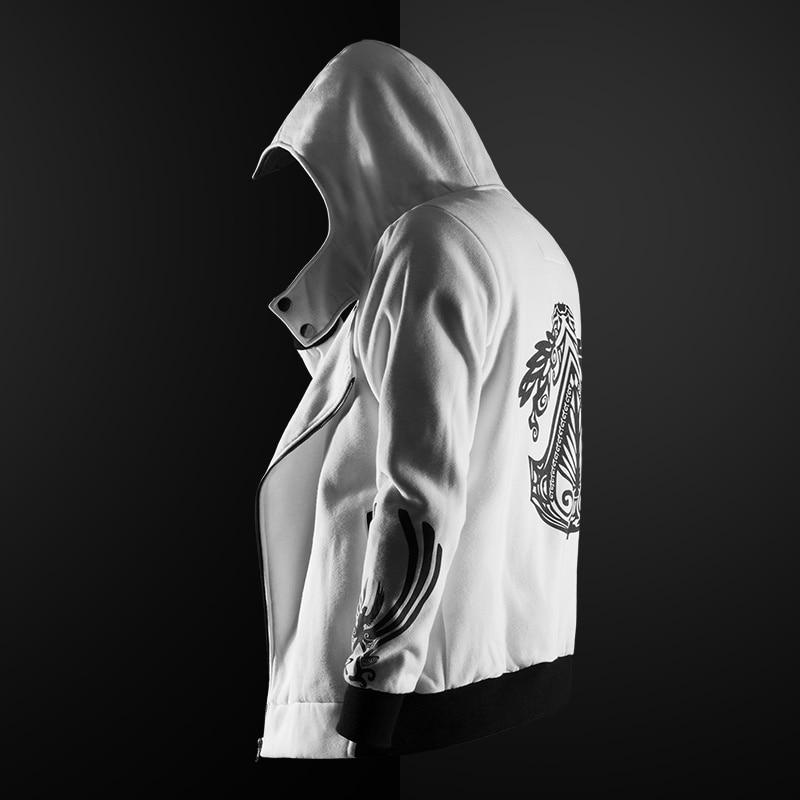 Brand New Men Hoodie Sweatshirt Long Sleeved Slim Fit Male Zipper Hoodies Assassin Master Cardigan Creed Jacket Plus Size S-5XL