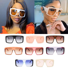 Wholesale Oversize One Piece Square Women Sunglasses 2020 Fashion Vintage Big