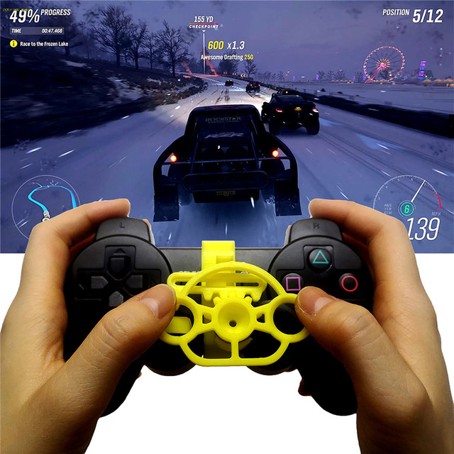 Mini Steering Wheel Controller Replacement Accessories for Sony Playstation PS3 Racing Game