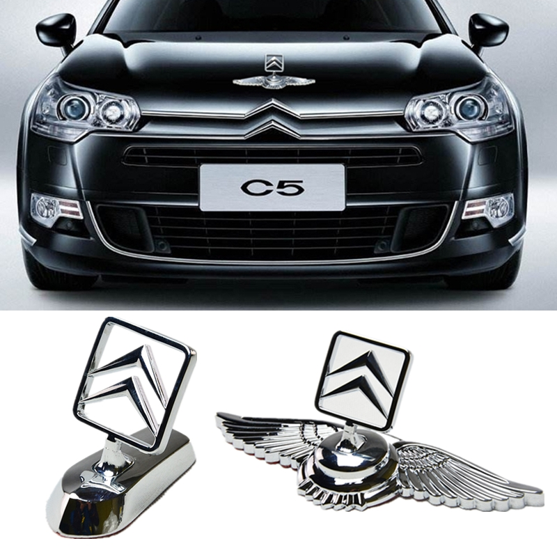 Car Head Front Cover Badge Metal Vehicle Hood Emblem Sticker For Citroen C2 C3 C4 C4l C5 Saxo Xsara Picasso Ds 3 4 6 C1 Berlingo