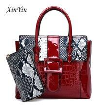 Casual crocodile pattern purses and handbags sets large capacity simple travel tote brand women shoulder bags 2019 crossbody bag