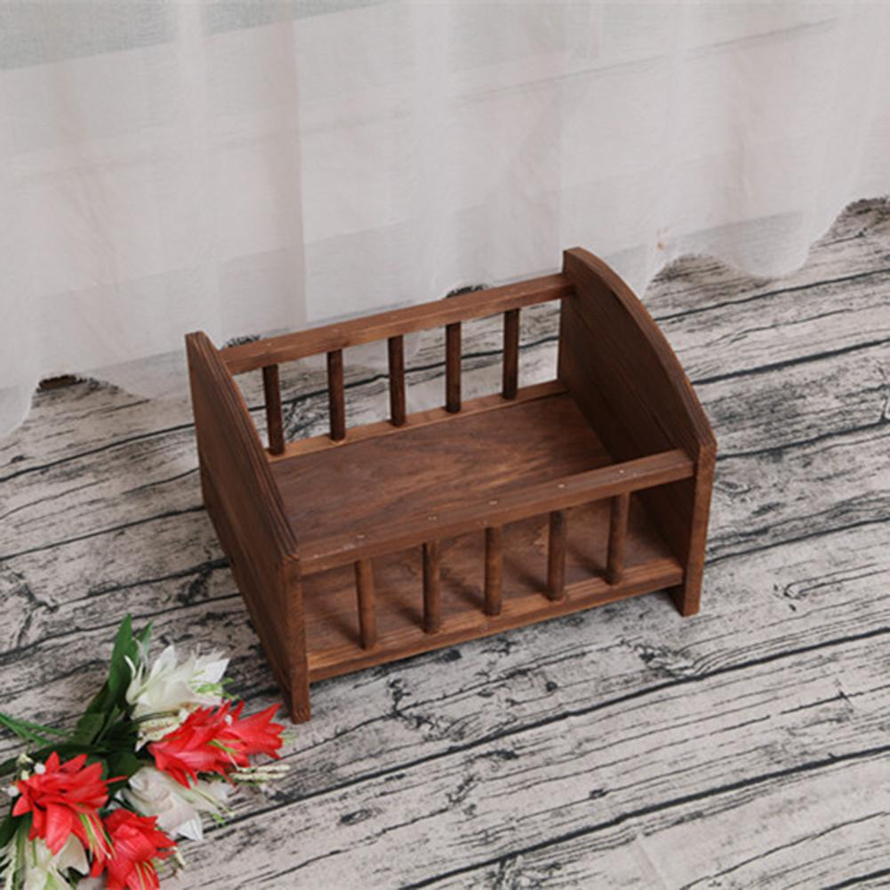 Newborn Baby Mini Bed Photography Props Wooden Bed Photography Shooting Props Environment Friendly Material