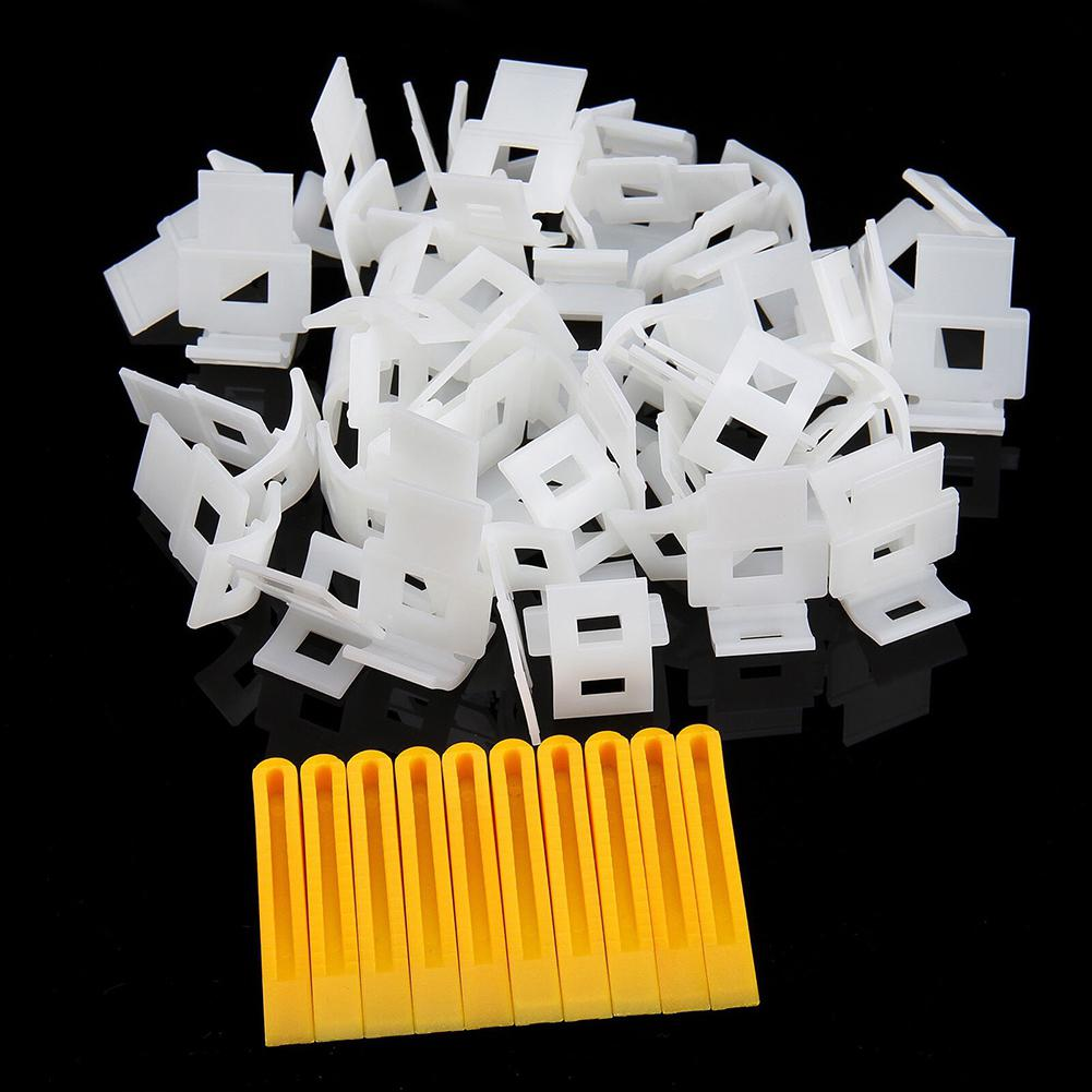 Kuulee 100pcs White Base For Tile Leveling Spacer System Construction Tool Accessories Wedges Tiling Flooring PE Tile Grout