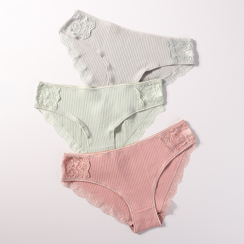 Underwear Women Cotton   Panties   Female Lace   Panties   Lingerie Ladies Comfortable Floral Underpants Woman Girls Pantys Briefs 2019