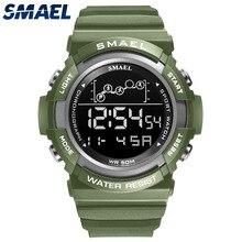 Sport Watch Men Digitak Clock SMAEL Mens Wristwatches LED Alarm Clocks Male Army Green Bracelet 1426  Waterproof Watches Digital