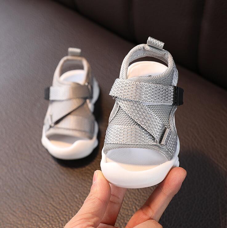 Baby Comfortable Sandals Summer New Boy Girls Beach Shoes Kids Casual Sandals Children Fashion Sport Sandals Size 21-25