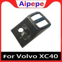 Carbon fiber Auto Hinten Reihe Luft Zustand Vent Outlet USB Rahmen Abdeckung Molding Borte Für Volvo XC40 2018 2019 Styling zubehör