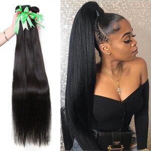 Image 1 - Straight 8 34 36 38 40Inch Braziliaans Haar Weave Bundels Remy Haar 100% Human Hair Extension Lange Volledige haar