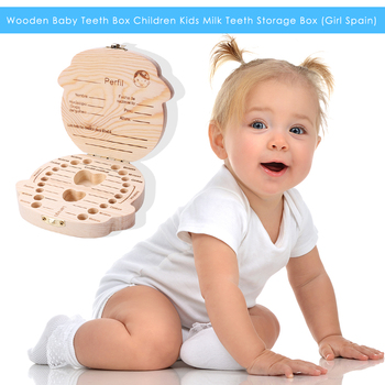 Drewniane pudełko na zęby mleczne dzieci zęby schowek zęby pępowina Lanugo Organizer zęby mleczne zbieraj upominki Keepsakes Save tanie i dobre opinie CN (pochodzenie) W wieku 0-6m 7-12m 13-24m 25-36m Unisex Wood