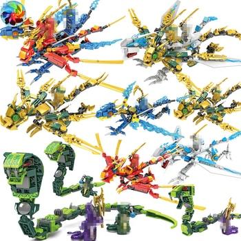 Ninja Dragon Knight basilisk Model KAI JAY ZANE Figures Building Blocks kids Toys Bricks gift for children boys
