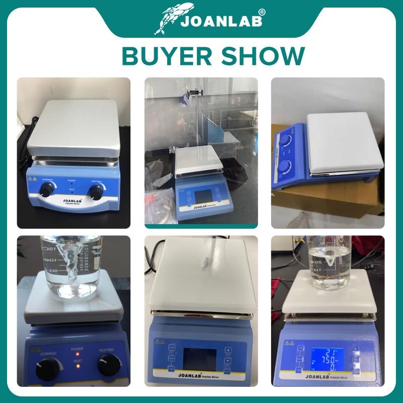 JOANLAB Heating Magnetic Stirrer Hot Plate Lab Stirrer Digital Display Magnetic Mixer Lab Equipment 1L 3L 5L 220v With Stir Bar 6
