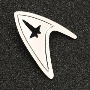 Image 3 - Звездная брошь трек Pin TMP, изображение Admiral Command, знак серебряного цвета, модная новинка, популярные украшения для фильмов, для мужчин и женщин, оптовая продажа