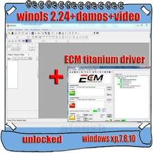 2020 Hot Selling Winols 2.24 + Unlock Patch + Damos 파일 + 비디오 + 사용자 설명서 + Ecm Titanium 26000 드라이버 다운로드 링크