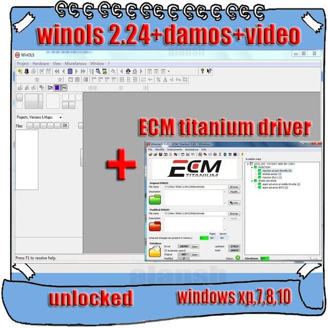 2020 vente chaude Winols 2.24 + déverrouillage Patch + fichiers Damos + vidéo + manuel de lutilisateur + Ecm Titanium 26000 pilotes lien de téléchargement