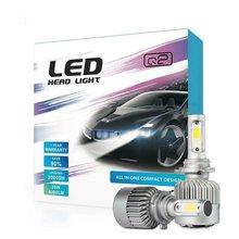 2 шт/кор автомобиль h4 h7 светодиодный фар 9005 9006 лампы 8000lm