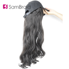 SAMBRAID 18 Inch Wavy Hair Extensions With Black Cap