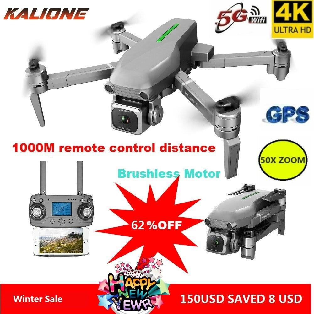 Dron sem Escova do Motor k de L109 com Câmera Drone Wifi Quadcopter Profissional Quadrocopter Drones 1000m vs Sg907 4 hd Gps 5g