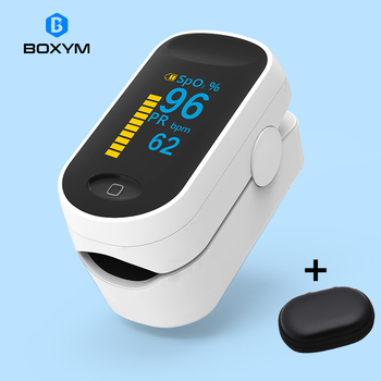 BOXYM Medical Portable Pulse Oximeter OLED Pulsioximetro Spo2 blood oxygen Heart Rate Monitor Oximetro De Dedo Household Health 1