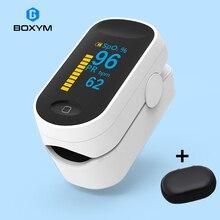 BOXYM médical Portable oxymètre De pouls OLED Pulsioximetro Spo2 sang oxygène moniteur De fréquence cardiaque Oximetro De Dedo santé domestique