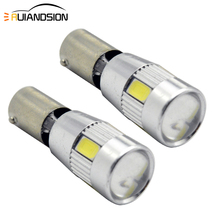 2 Pcs 2W H21W BAY9S BA9S BAX9S 6smd 5630 Led Canbus Super Heldere Auto Klaring Reading Dome Lamp Verlichting wit 12-16V Auto Styling