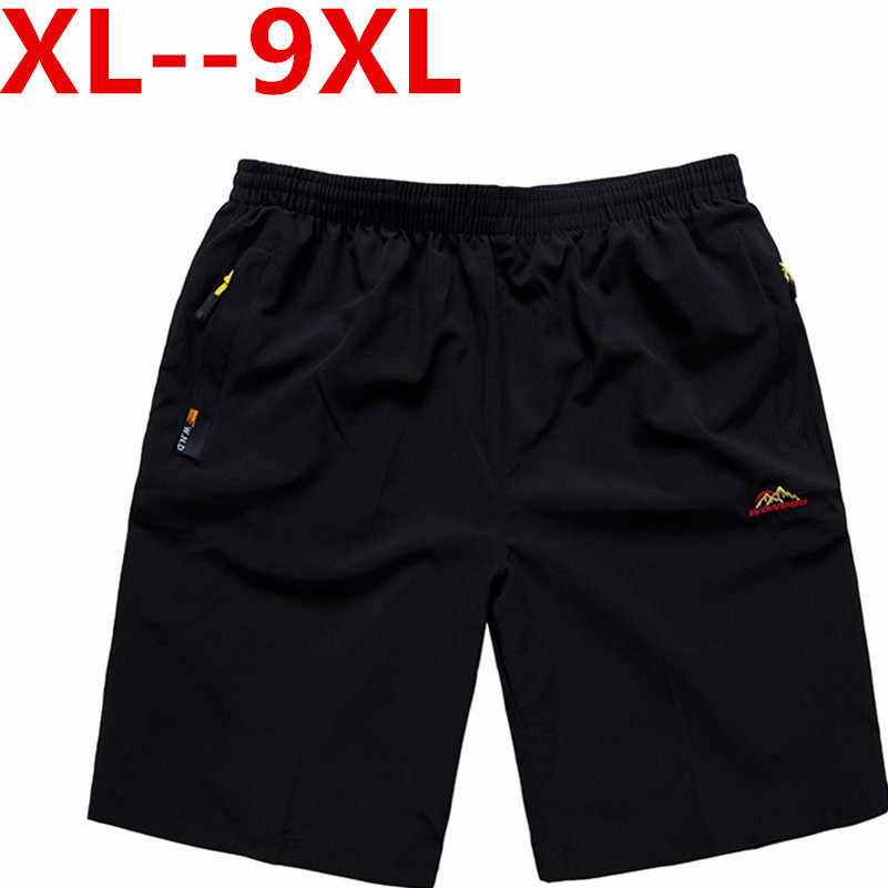 Yeni 9XL 8XL Casual erkek şort plaj kurulu şort erkekler çabuk kuruyan yaz tarzı katı Polyester yeni marka giyim Boardshorts