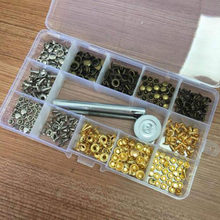 180pcs Set Double Cap Rivets Metal With Fixing Tool Kit For Leather Craft(China)