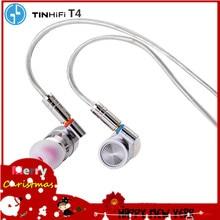 TINHIFI T4 HIFI Metal kulaklık 10mm CNT dinamik sürücü HIFI bas kulaklık kulaklık MMCX kablo teneke P1 T2 PRO t3 S7 F3 BA5 V90