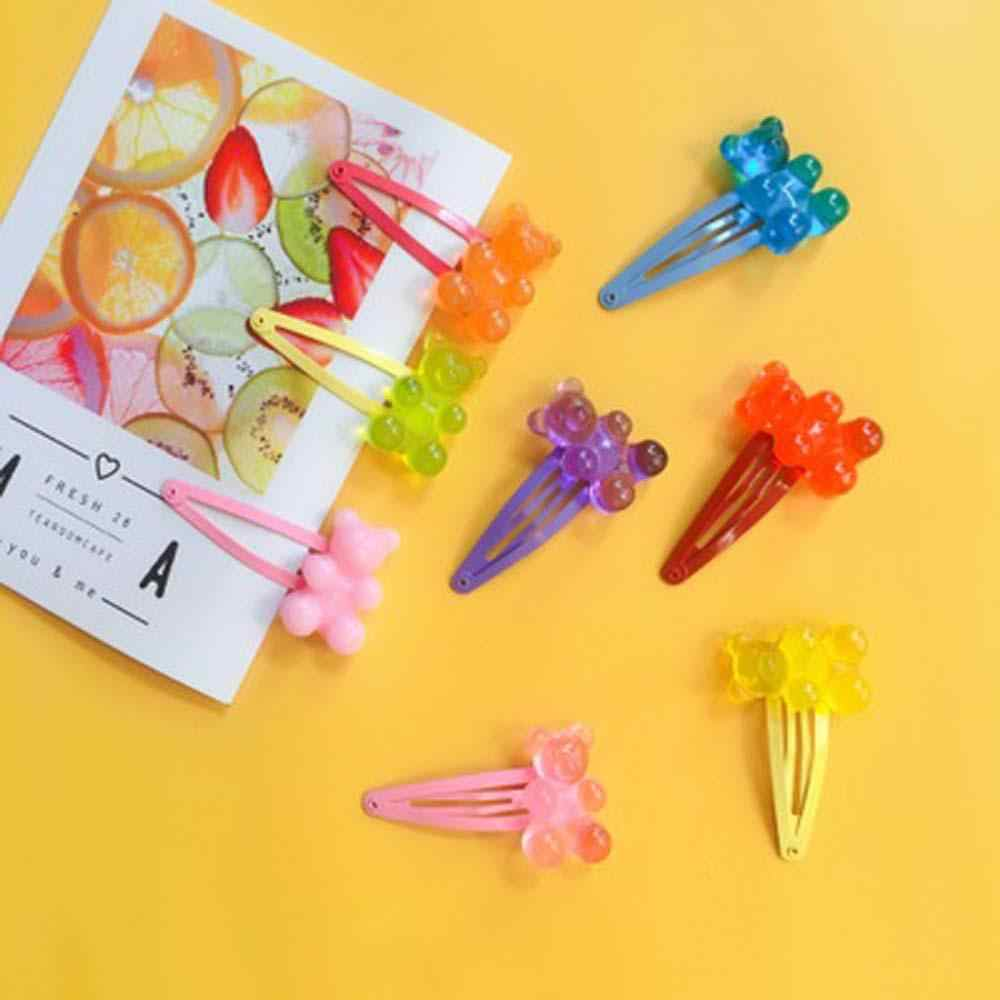 בעבודת יד BB קליפים Macarons חמוד ג 'ודי קריקטורה דוב סיכות, סוכריות תליון לנשים וילדה יומי ילדי תכשיטי מסיבת חמוד מתנה