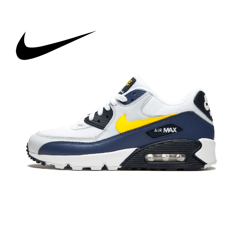 Original Authentic NIKE AIR MAX 90 ESSENTIAL Men's Running Shoes Fashion Classic Breathable Outdoor Sports Sneakers AJ1285-101