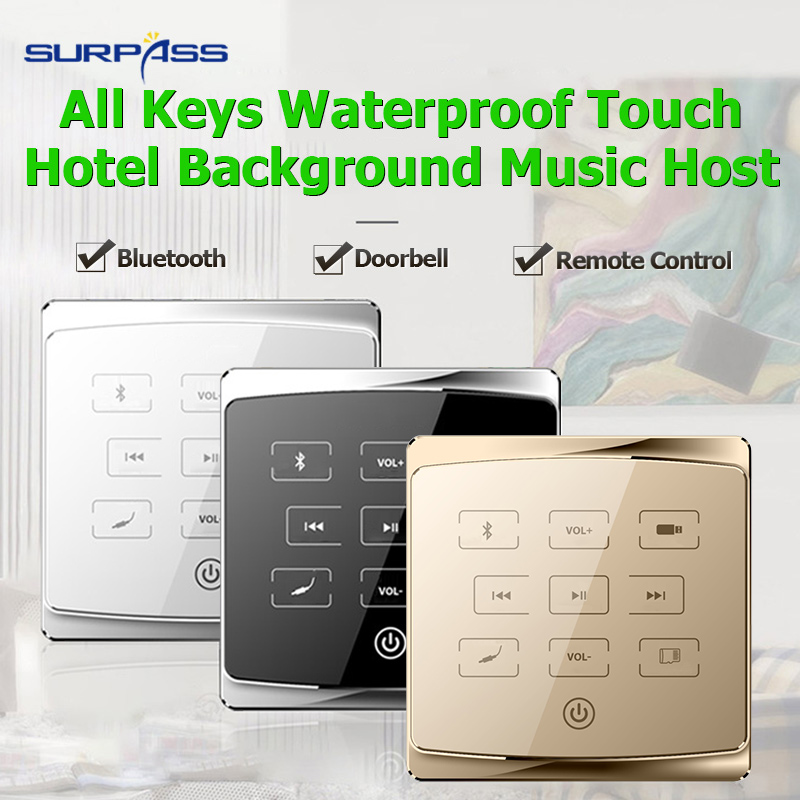 Home mini bluetooth Audio in Wall pa amplifier smart music center system Stereo sound Amplifier Hotel bluetooth fm usb sd player 2