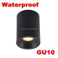 1 pçs ao ar livre à prova dwaterproof água ip65 superfície montado led downlight banheiro cozinha varanda gu10 montagem teto ponto luminária