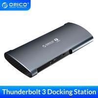 ORICO Thunderbolt 3 Docking Station USB Hub Type C to DP HDMI USB 3.0 RJ45 SD 60W Charging Adapter 40Gbps For Macbook Pro Huawei