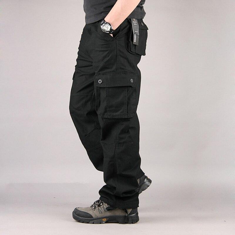 Men Cargo Pants Casual Mens Pants Multi Pocket Military Overall Men Sweatpants Tactical Trousers Pantalon Hombre Plus Size 55