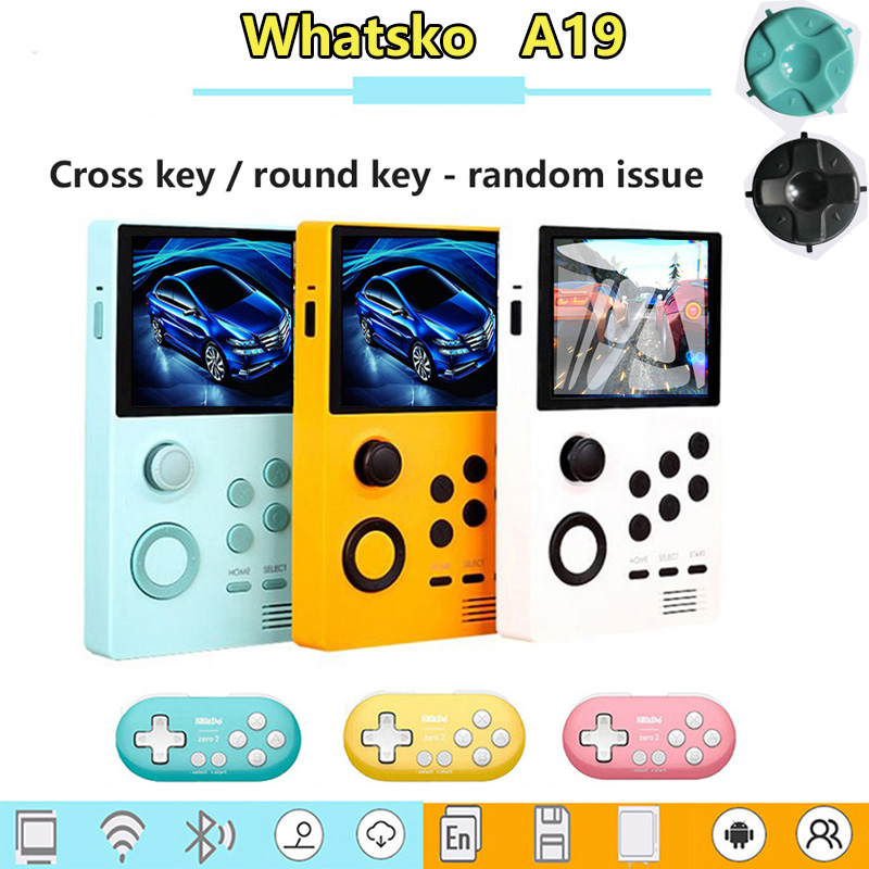 whatsko A19 Android video game machine built-in 3000+ game 3D game WiFi can connect more than 3 mini handles at the same time