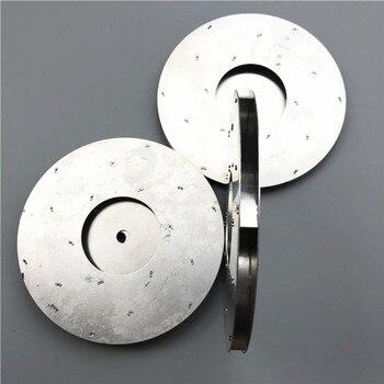 цена на 8mm hole 125mm flat aluminum fan blade impeller vacuum cleaner motor parts flat shape Suction machine motor Aluminum impeller