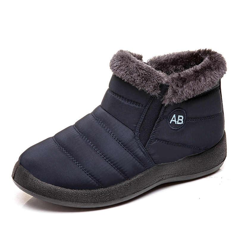 Vrouwen Laarzen Mode Waterdichte Snowboots Voor 2019 Winter Schoenen Vrouw Warm Houden Enkel Botas Mujer Plus Size 43 Winter schoeisel