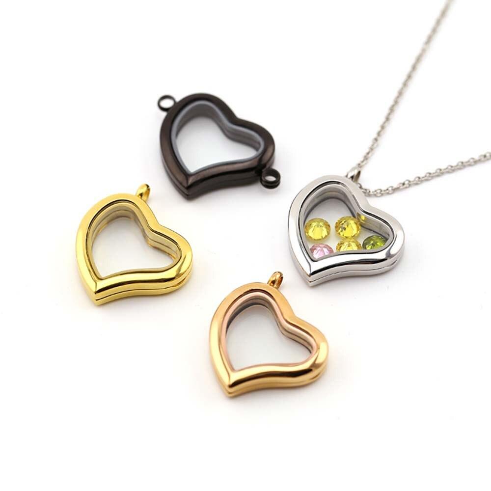 floating locket necklace jewelry BOFEE